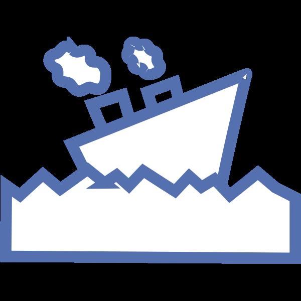 Ship cartoon vector drawing