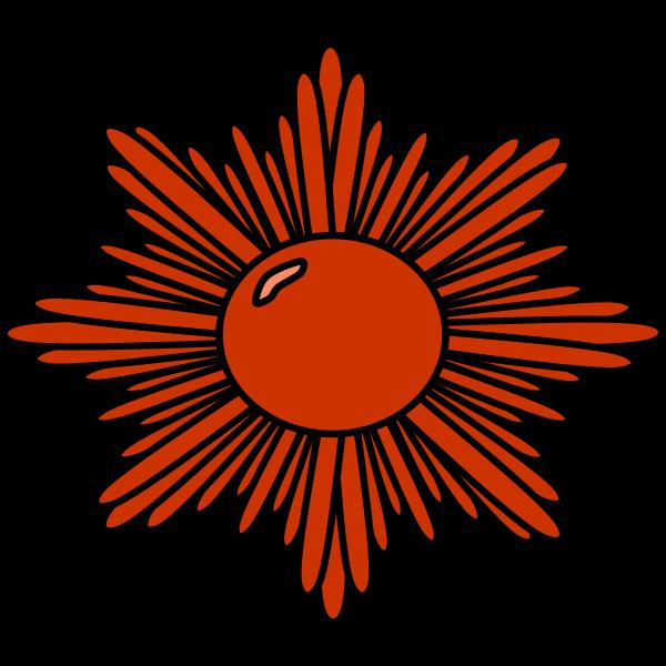 Bronze starburst vector drawing