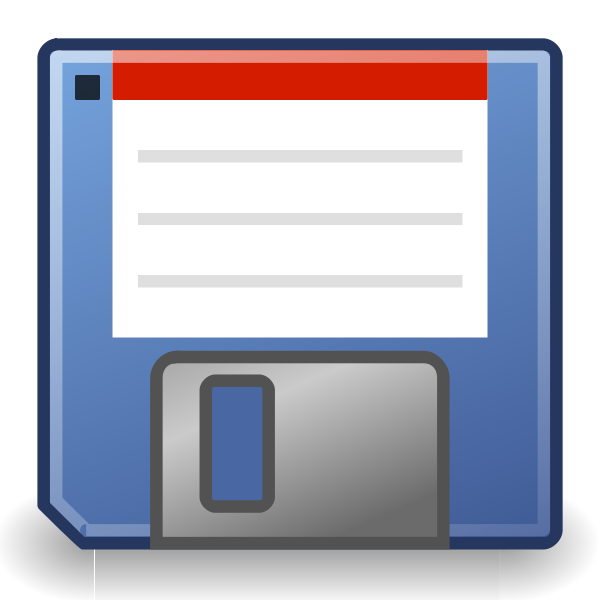 Vector image of blue floppy disc