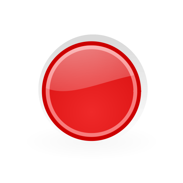 Red button in dark red frame graphics