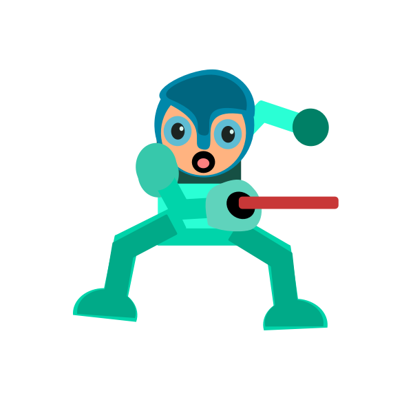 Space warrior character vector illustration