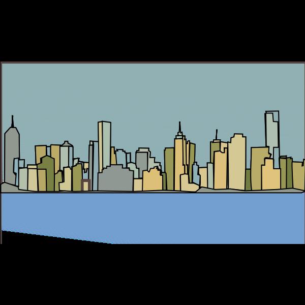 Melbourne skyline vector illustration