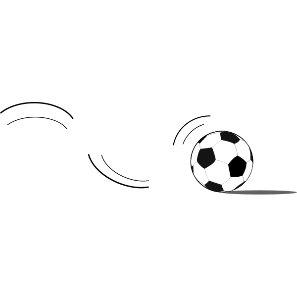 Soccer ball bouncing vector clip part