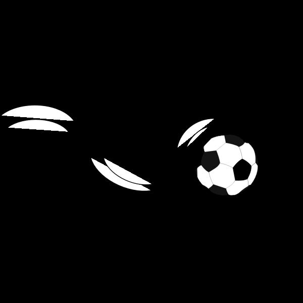 Soccer ball bouncing vector clip part