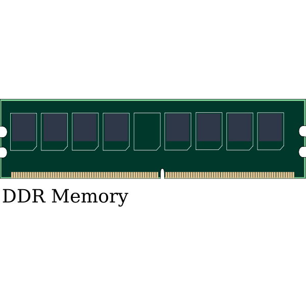 Image of DDR computer memory module