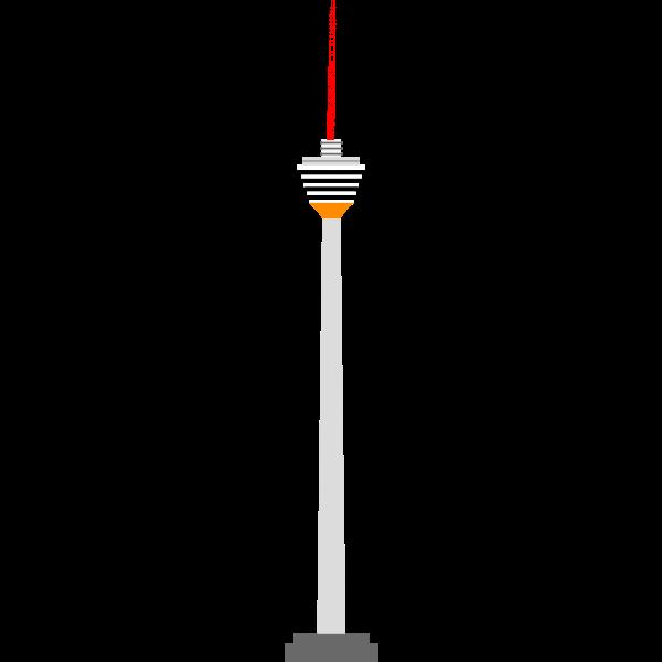 Menara tower vector clip art