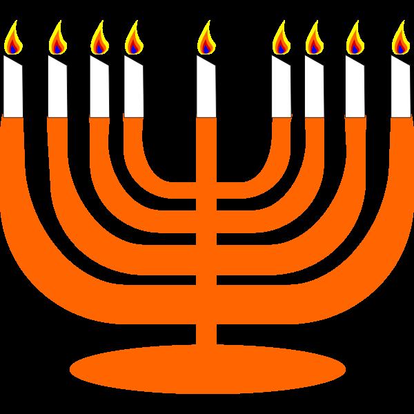 Vector image of Menorah for Hanukkah