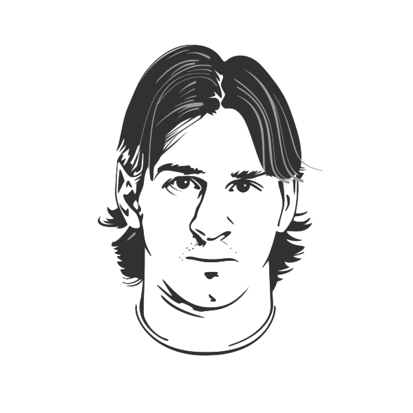 Messi vector image