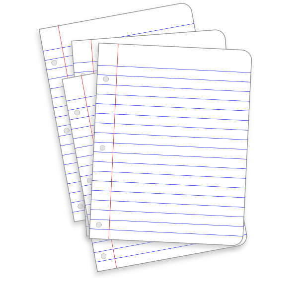 Lined pages vector image