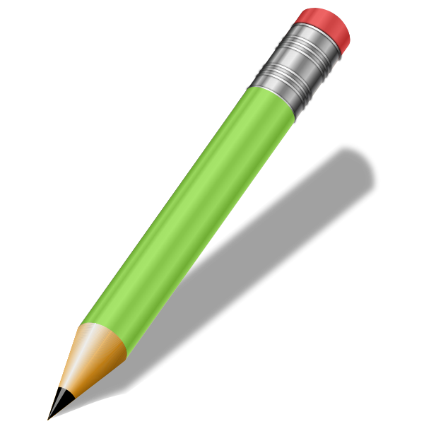 Sharp green pencil vector clip art