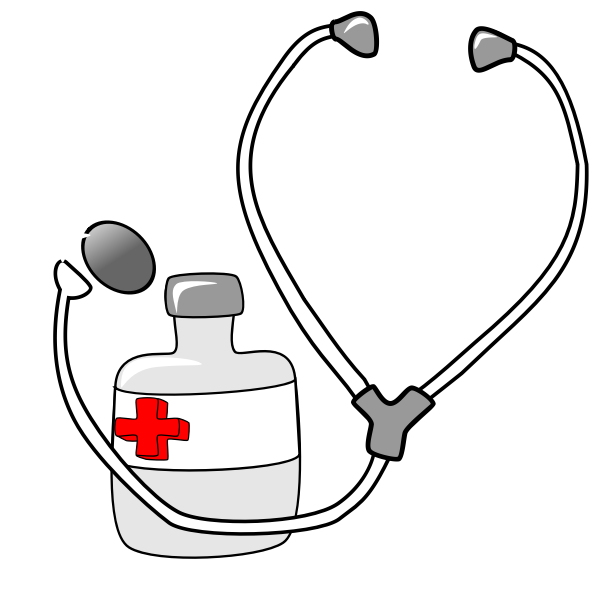 Medicine and a Stethoscope Vector