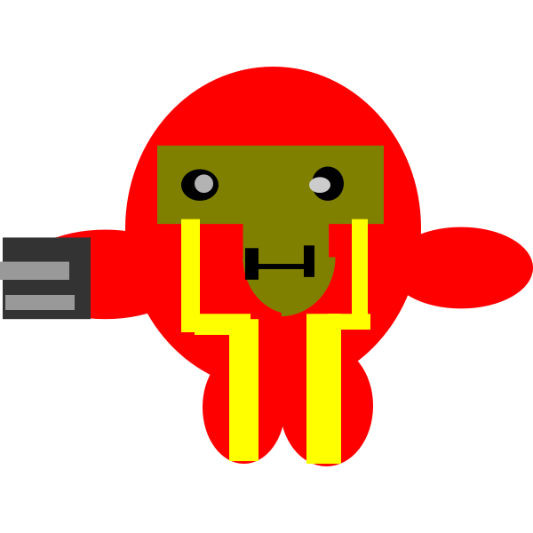 Fictional character red robot