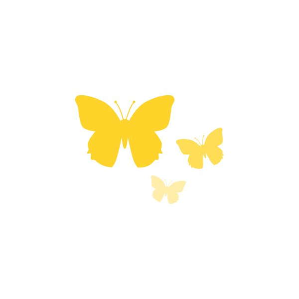 Vector graphics of butterflies
