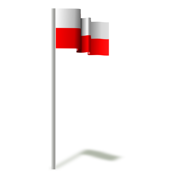 Flying flag of Poland vector image