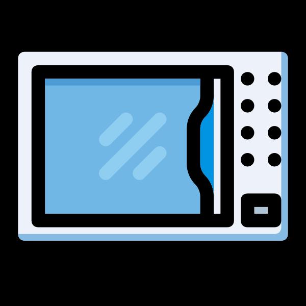 Microwave symbol vector image