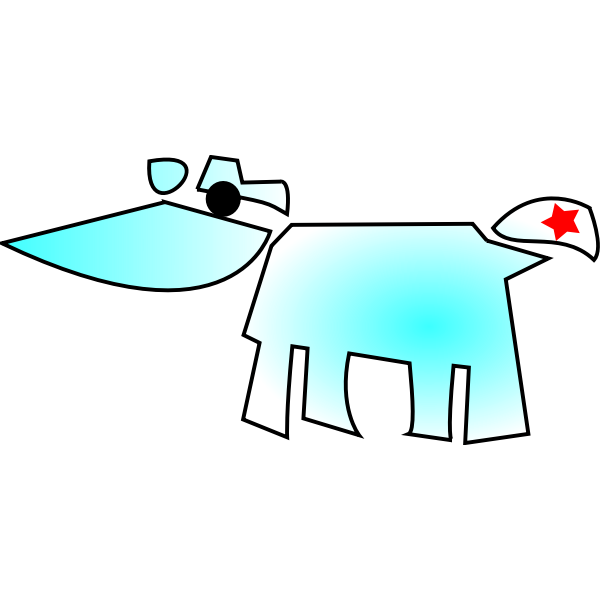 Cow abstract vector drawing
