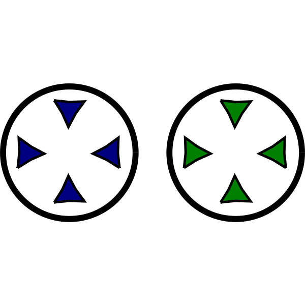 Two focus dots vector image