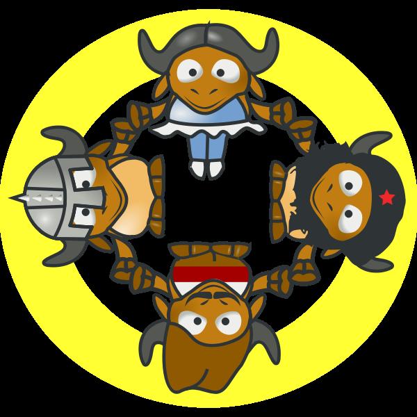 GNU Circle vector image