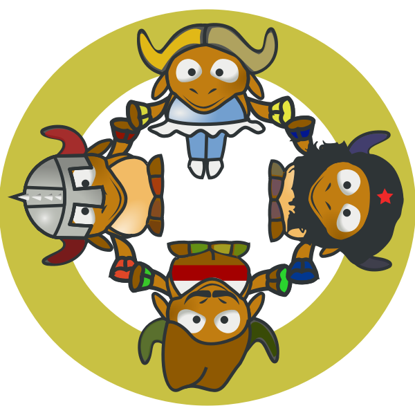 GNU Circle vector illustration