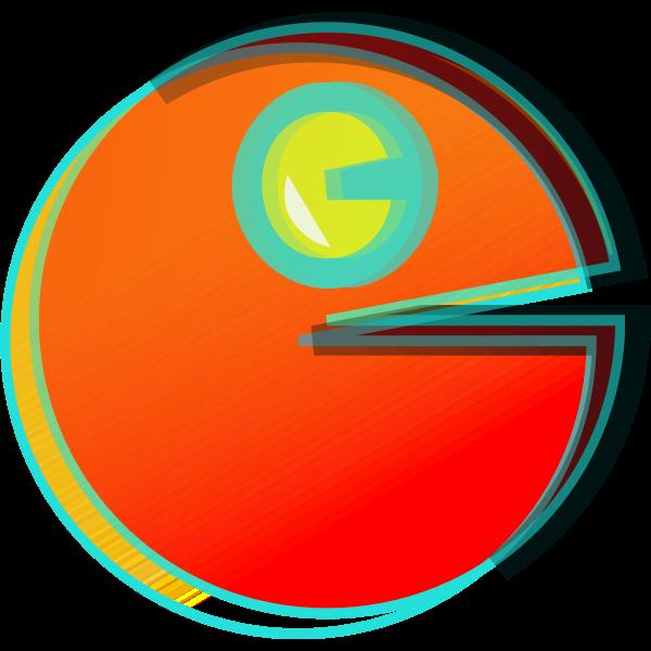 Pac-Man vector icon