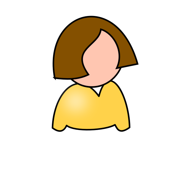 Vector image of girl icon