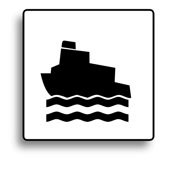 Ferry boat road sign vector image