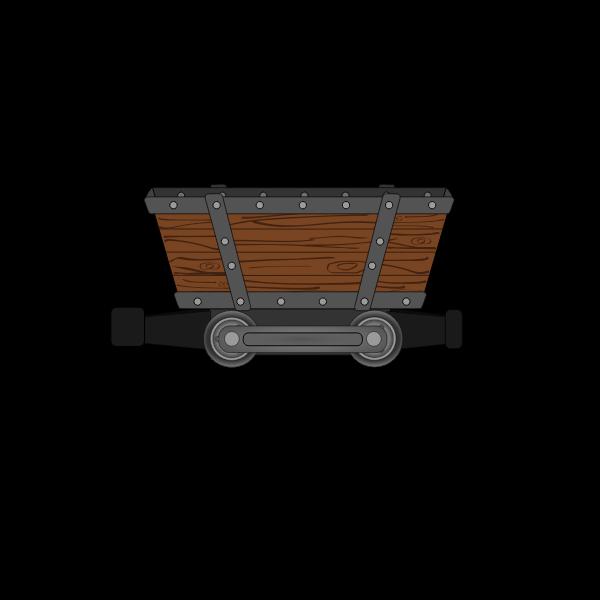 Mining car vector