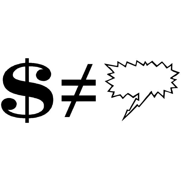 American dollar symbol graphics
