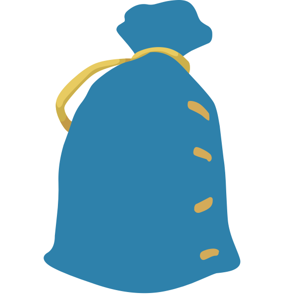 A blue sack