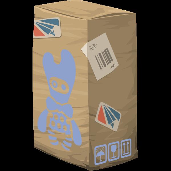 Vector drawing of carton storage box
