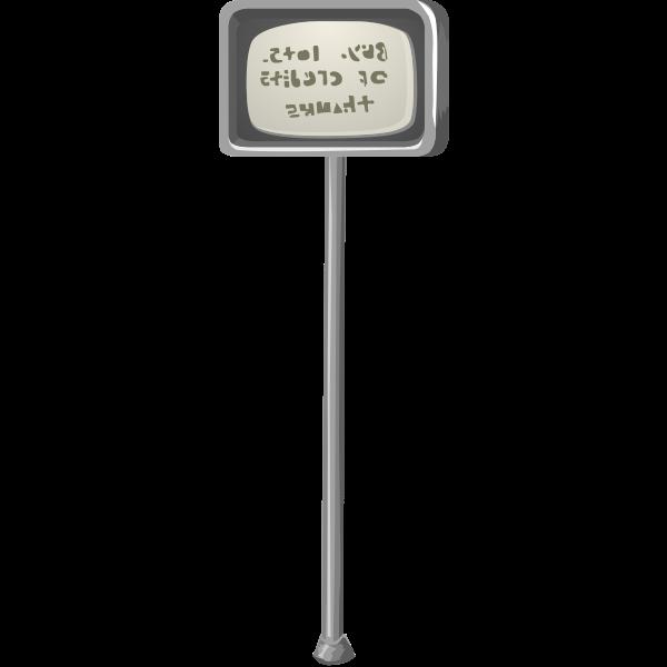 Metallic sign