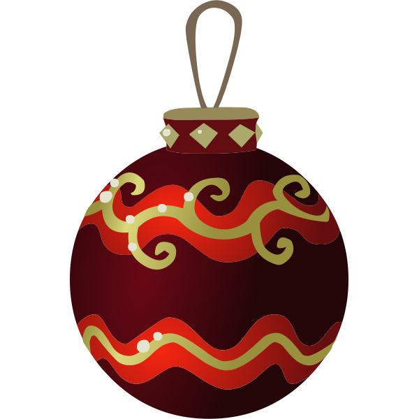Colorful Christmas tree ball vector illustration