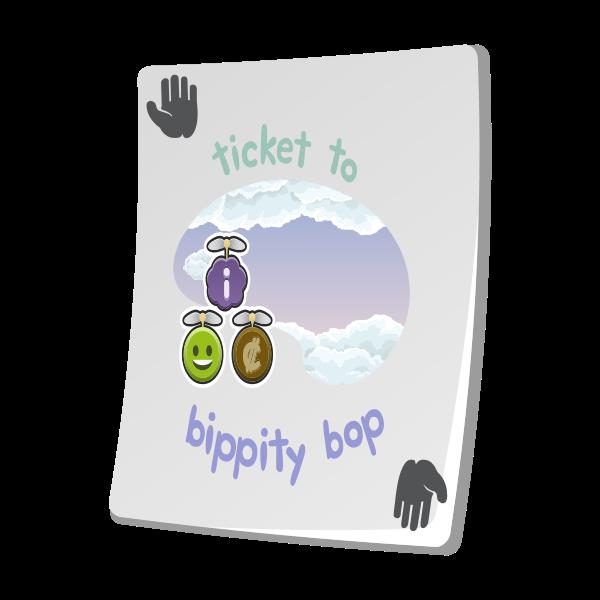 misc paradise ticket bippity bop