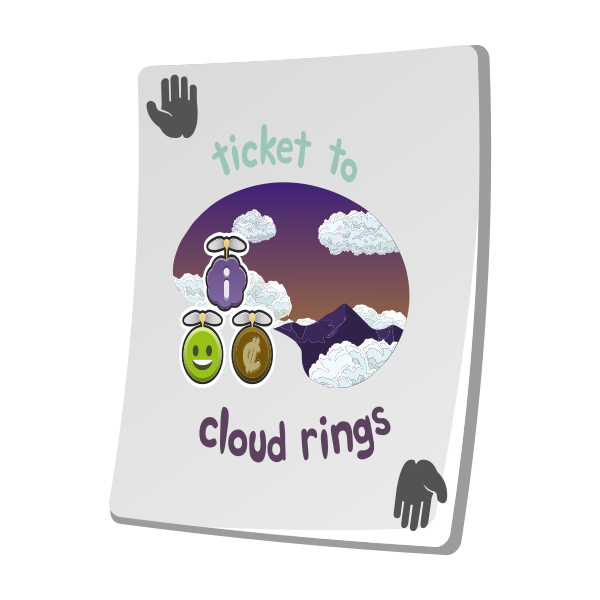 misc paradise ticket cloud rings