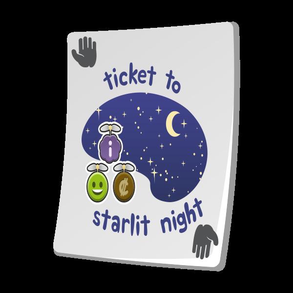 misc paradise ticket starlit night