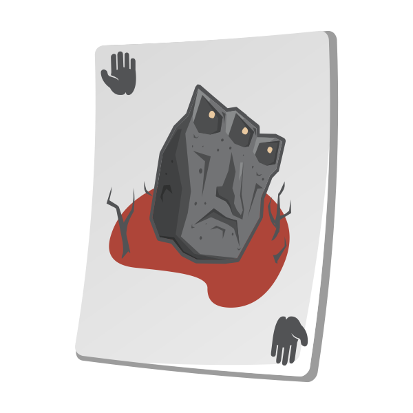 Creature on a playing card vector illustration
