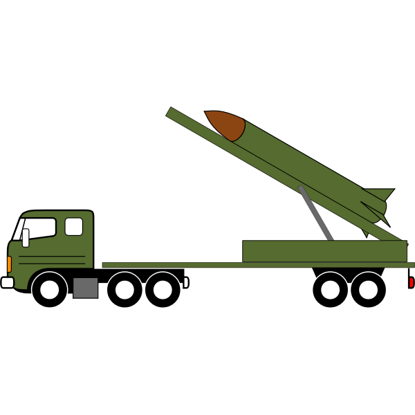 Missile truck vector drawing