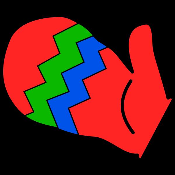 Oven mitt vector clip art