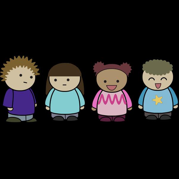 Cartoon people character set vector image