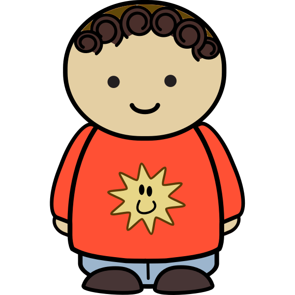 Cartoon toddler