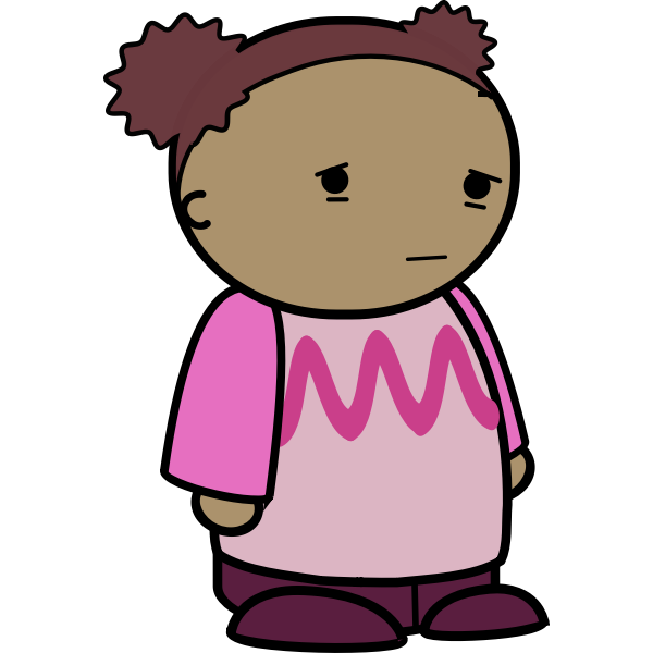 Girl with sad face