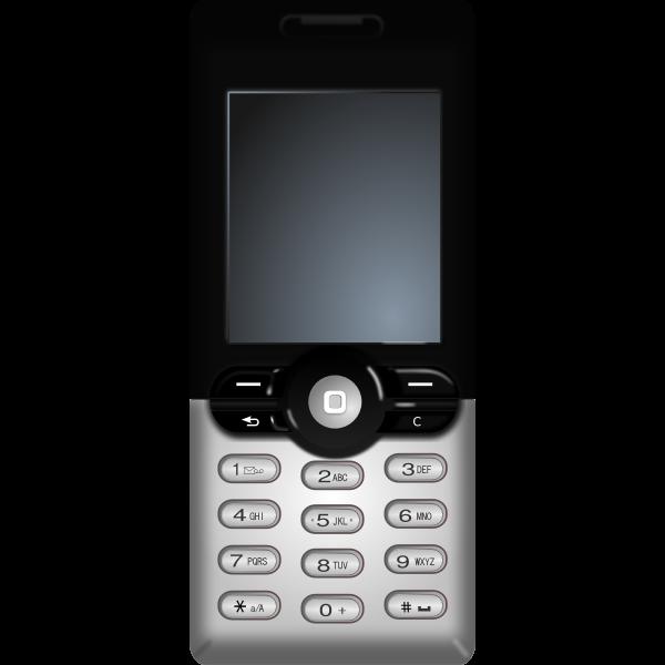 Cellular phone vector clip art