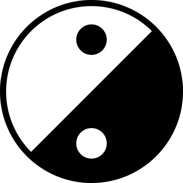 Simple Yin Yang icon