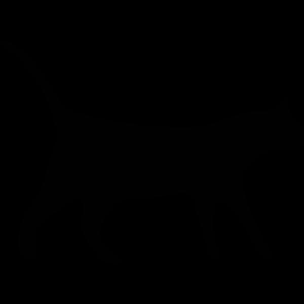 Silhouette vector clip art of black cat