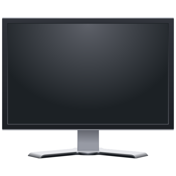 Flatscreen LCD monitor frontview vector image