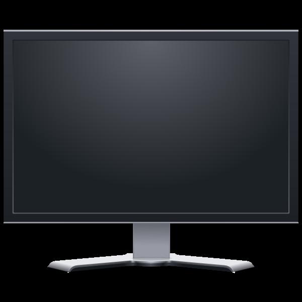 Flatscreen LCD monitor frontview vector image