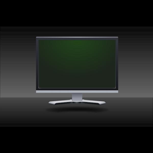 LCD flat screen vector image