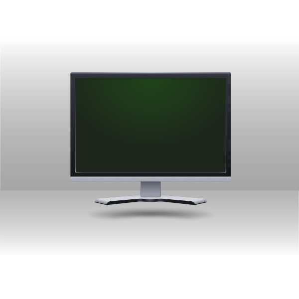 Computer screen vector drawing