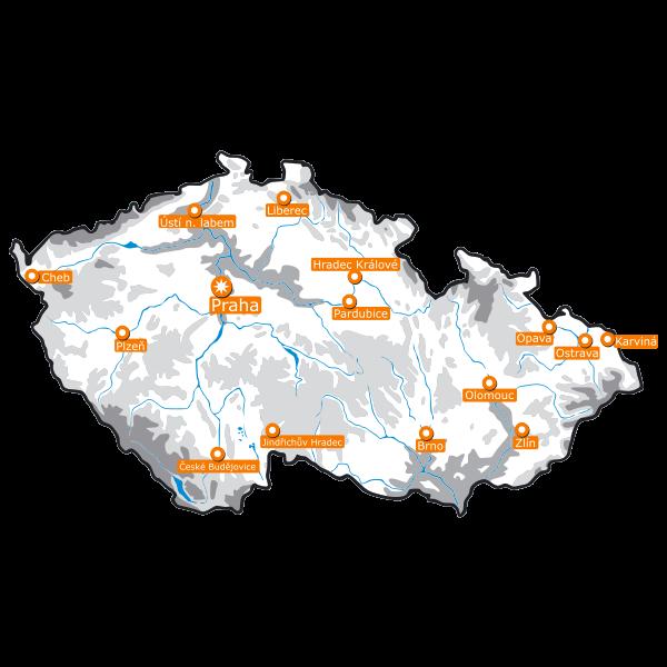 Vector map of Czech Republic