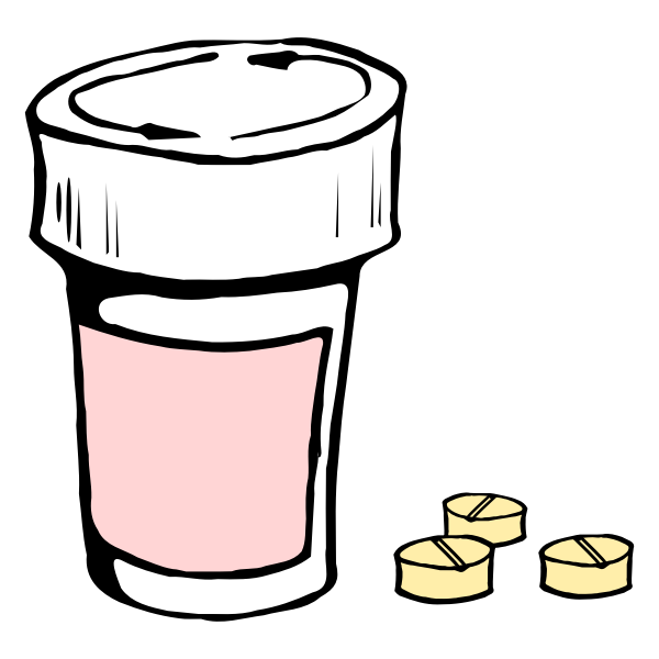 Pills and container vector image
